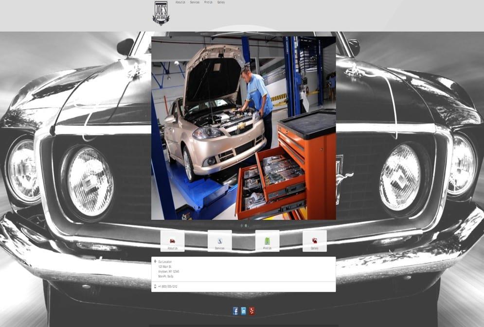 Auto Repair Shop Websites Sample