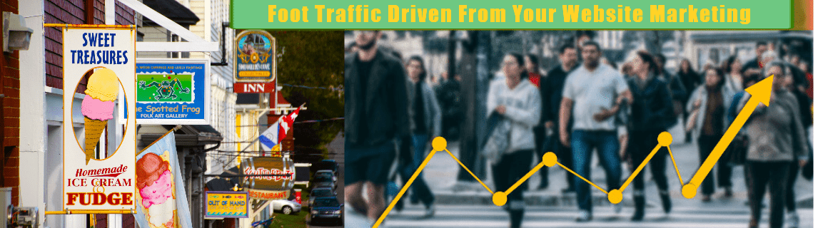 FOOT TRAFFIC DRIVEN FROM YOUR WEBSITE MARKETING